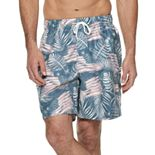 Men's Croft & Barrow® Patterned Swim Trunks