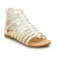 49a534801656d SO® Beach Ball Girls  Gladiator Sandals. Tan Black Silver White Gold