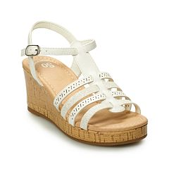 SO® Sunscreen Girls' Platform Wedge Sandals
