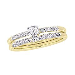 Stella Grace 14k Yellow Gold 2/5 Carat T.W. Diamond Bridal Set Ring