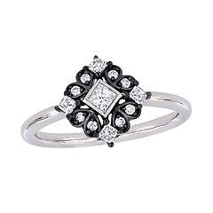 Stella Grace 10K White Gold 1/3 Carat T.W. Diamond Ring