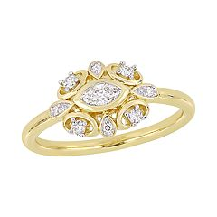 Stella Grace 10k Gold 1/4 Carat T.W. Diamond Ring