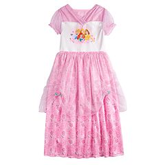 919e04eb1 Disney Princess Girls 4-8 Ariel, Belle Cinderella & Rapunzel Fantasy Gown  Nightgown
