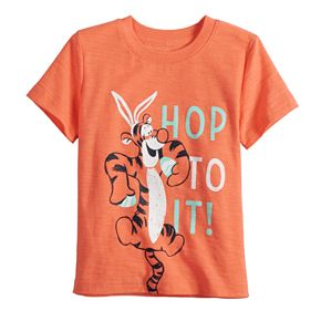 """Disney's Winnie The Pooh Baby Boy Tigger """"Hop To It"""" Easter Graphic Tee by Jumping Beans®"""