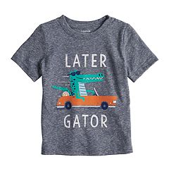Baby Boy Jumping Beans® 'Later Gator' Heathered Graphic Tee