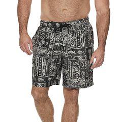 Men's Croft & Barrow® Classic-Fit Tropical Swim Trunks