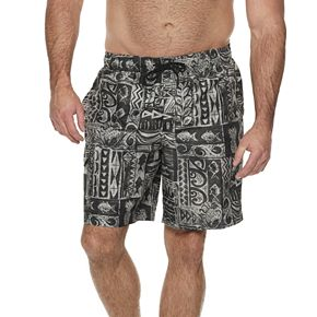 Big & Tall Croft & Barrow® Classic-Fit Tropical Swim Trunks