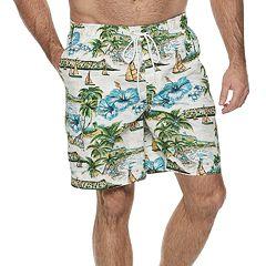 f5e7fd71db Men's Croft & Barrow® Classic-Fit Tropical Swim Trunks