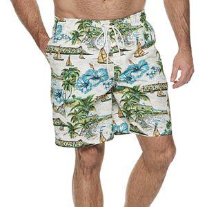 852541257b Big & Tall Croft & Barrow® Classic-Fit Patterned Swim Trunks