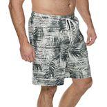 Big & Tall Croft & Barrow® Classic-Fit Tropical Swim Trunks
