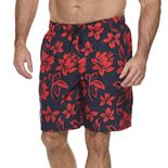 Big & Tall Croft & Barrow® Classic-Fit Patterned Swim Trunks