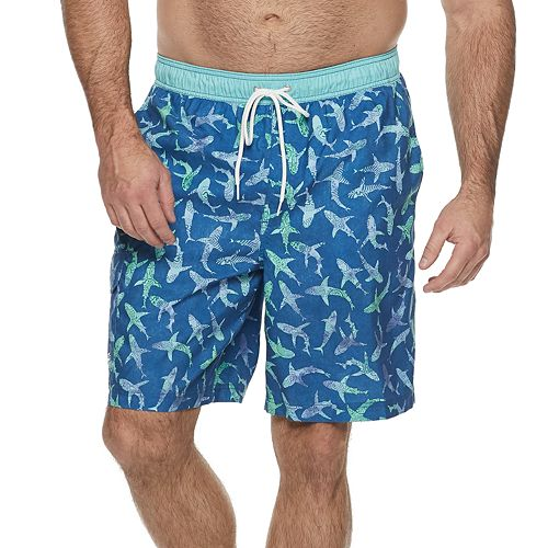 Big & Tall Croft & Barrow® Classic-Fit Patterned Swim Trunks