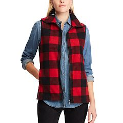 Women's Chaps Plaid Fleece Vest