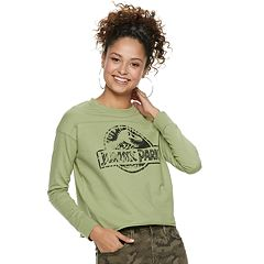 Juniors' Jurassic Park Graphic Crop Tee