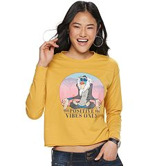 Juniors' Rafiki 'Positive Vibes Only' Crop Tee