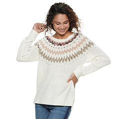 Juniors' American Rag Fairisle Sweater