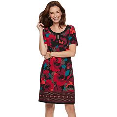Women's Dana Buchman Print Keyhole Sheath Dress