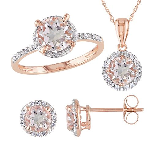 Stella Grace 10k Rose Gold 1/5 Carat T W  Diamond