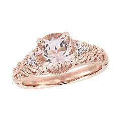 Stella Grace 14k Rose Gold Diamond Accent & Morganite Ring