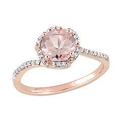 Stella Grace 14k Rose Gold 1/10 Carat T.W. Diamond & Morganite Ring