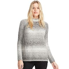 Women's Chaps Mockneck Ribbed Sweater