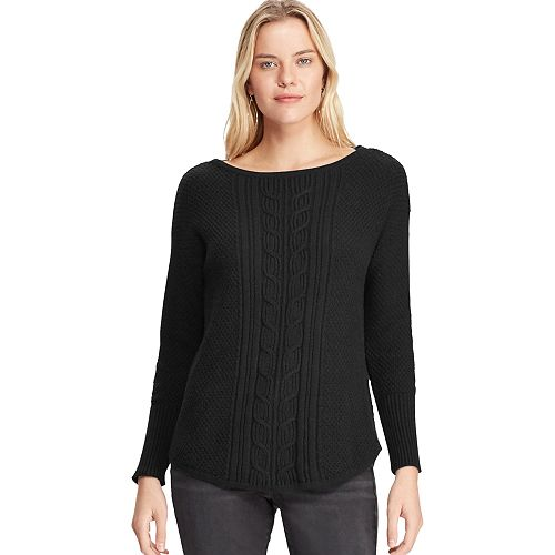 Women's Chaps Textured Cable-Knit Sweater