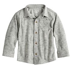 Toddler Boy Jumping Beans® Fleece Button Down Shirt