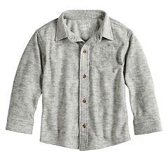 Toddler Boy Jumping Beans® Fleece Button Down Shirt