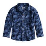 Toddler Boy Jumping Beans® Camouflaged Fleece Button Down Shirt