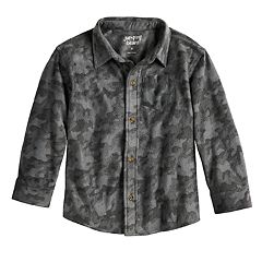 Toddler Boy Jumping Beans® Camouflaged Fleece Button Down Shirt