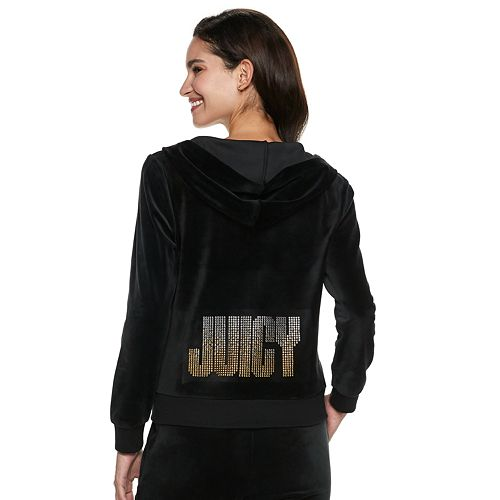Women's Juicy Couture Graphic Velour Hoodie