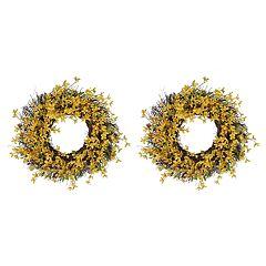 SONOMA Goods for Life™ Artificial Forsythia Wreath 2-piece Set