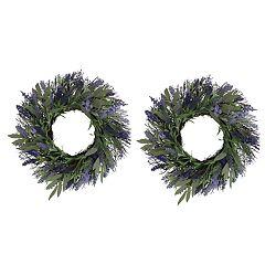 SONOMA Goods for Life™ Artificial Lavender Wreath 2-piece Set