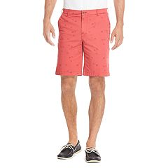 Men's IZOD Saltwater Classic-Fit Patterned Stretch Flat-Front Shorts