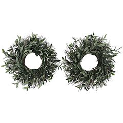 SONOMA Goods for Life™ Artificial Greenery Olive Wreath 2-piece Set