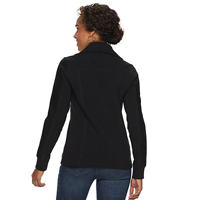 Petites Croft & Barrow® Textured Zip-Front Jacket