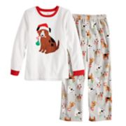 Boys 4-14 Carter's Christmas Dog Fleece 2-Piece Pajama Set