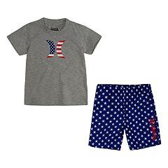 Toddler Boy Hurley Americana Logo Tee & Shorts Set