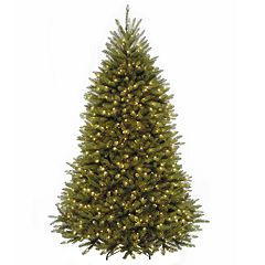 National Tree Co. 7 1/2' Dunhill Fir Hinged Artificial Christmas Tree with LED Lights