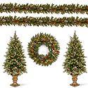 Christmas Trees, Wreath & Garland
