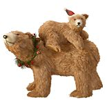 "National Christmas Tree 14.5"" Bear and Cub Floor Decor"