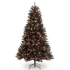 National Tree Co. 6 1/2' North Valley Black Spruce Hinged Artificial Christmas Tree with Clear Lights