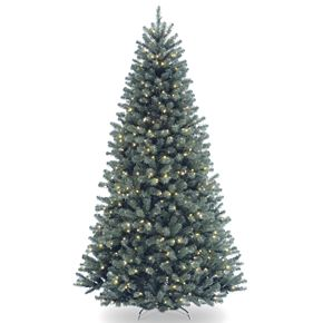 National Tree Co. 7' North Valley Spruce Blue Hinged Artificial Christmas Tree with Clear Lights