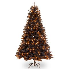 National Tree Co. 6.5 ft. North Valley Black Spruce Artificial Christmas Tree with Orange Lights