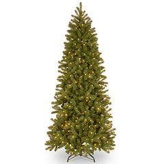 National Tree Co. 7 ft. Downswept Douglas Pencil Slim Fir Artificial Christmas Tree with LED Lights