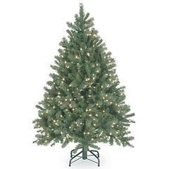 National Tree Co. 4.5 ft. Downswept Douglas Blue Fir Artificial Christmas Tree with Clear Lights