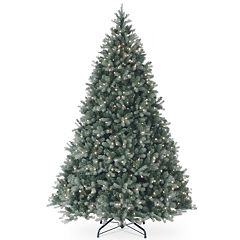National Tree Co. 9 ft. Downswept Douglas Blue Fir Artificial Christmas Tree with Clear Lights