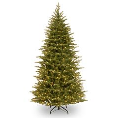 National Tree Co. 6.5 ft. Nordic Spruce Slim Artificial Christmas Tree with LED Lights