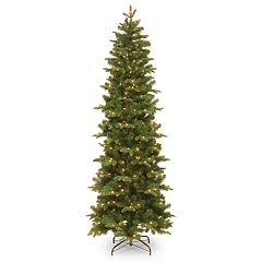 National Tree Co. 6 1/2' Feel Real Prescott Pencil Slim Hinged Artificial Christmas Tree with Clear Lights