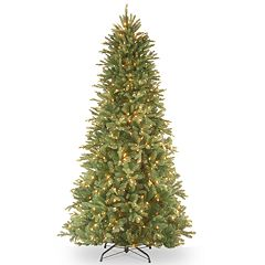 National Tree Co. 7' Feel Real Tiffany Fir Slim Hinged Artificial Christmas Tree with Clear Lights